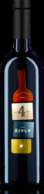4 Živly Červené Karpatská Perla Výber z Hrozna, Cuvée, obj. 0,75