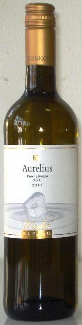 AURELIUS Elesko vinárstvo Výber z hrozna 2012 polosladké