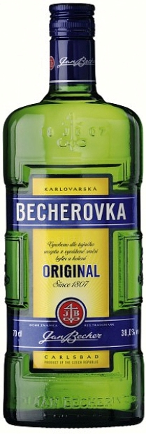 Becherovka original  Jan Becher obj. 0,5 L, Alk. 38 % obj.