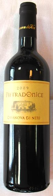 CABERNET SAUVIGNON Pietradonice 2009 CASANOVA DI NERI Rosso Tosc
