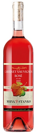 CABERNET SAUVIGNON Rosé 2015 Mrva & Stanko suché víno AV