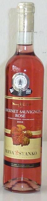 Cabernet Sauvignon Rosé 2012 Mrva Stanko polosladké VZH Strekov
