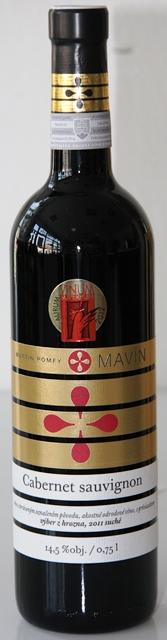 Cabernet Sauvignon 2011 Mavin výber z hrozna