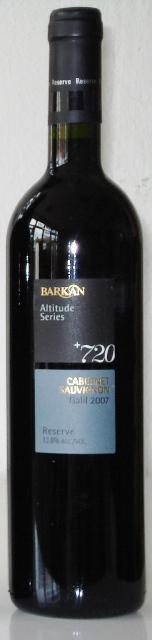Cabernet Sauvignon 2007 Barkan 720 Altitude