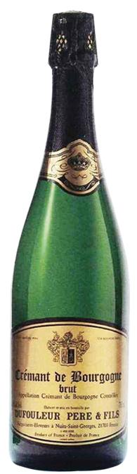 Crémant de Bourgogne Blanc Brut Dufouleur Pere & Fils