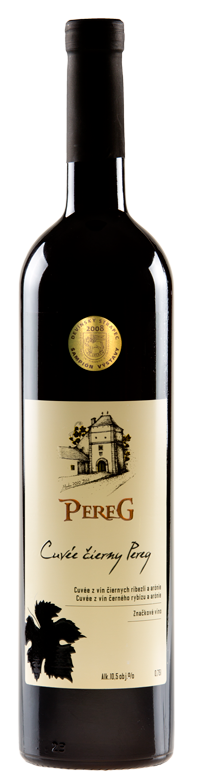 Cuvée Čierny Pereg z čiernych ríbezlí a arónie značkové víno