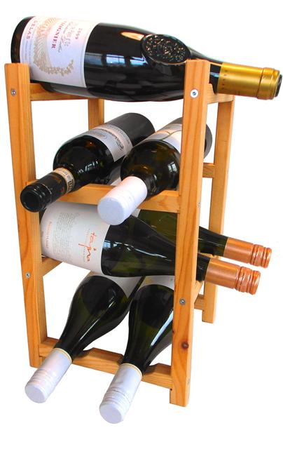DREVENÝ STOJAN na víno a nápoje 8 fliaš