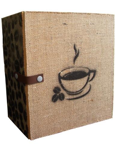 Darčekový dekoračný set - box na kávu a šálky