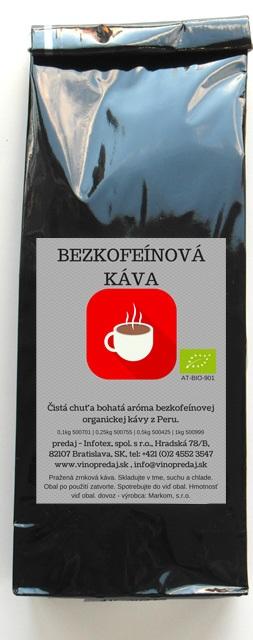 Decaffeinato Bio káva 250g