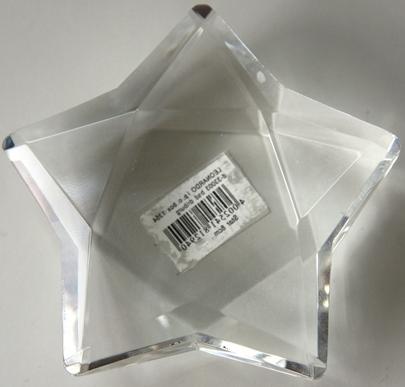 Dekorácia sklo Hviezda - STAR Leonardo 8 cm