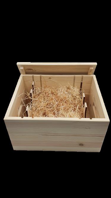 Drevená krabica box bedňa na 6 fliaš víno destiláty