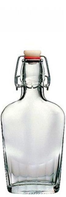 Fľaša Fiaschetta 0,25 L patent ploskačka alkohol Bormioli Rocco