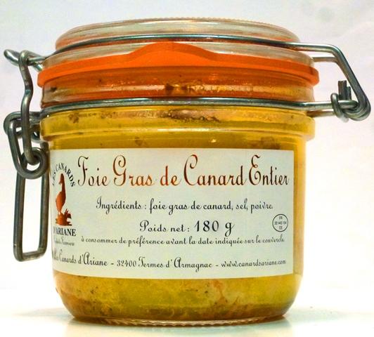 Foie Gras de Canard Entier Ariane Kačacia pečienka v masti 180g