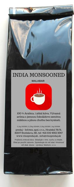 India Malabar pražená zrnková káva, coffee 100g