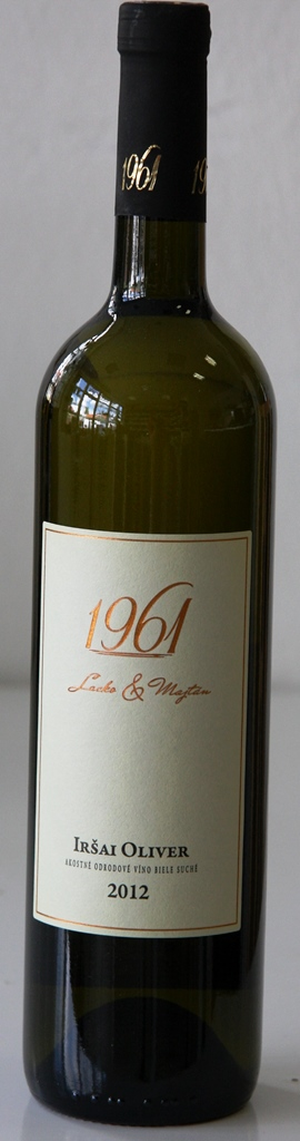 Iršai Oliver 2012 Lacko a Majtán 1961 vinárstvo
