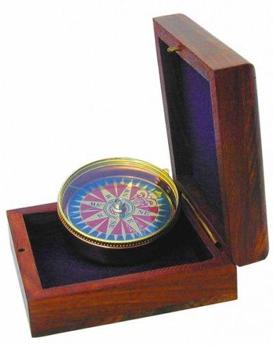 KOMPAS dekoračný darček funkčný drevená kabica