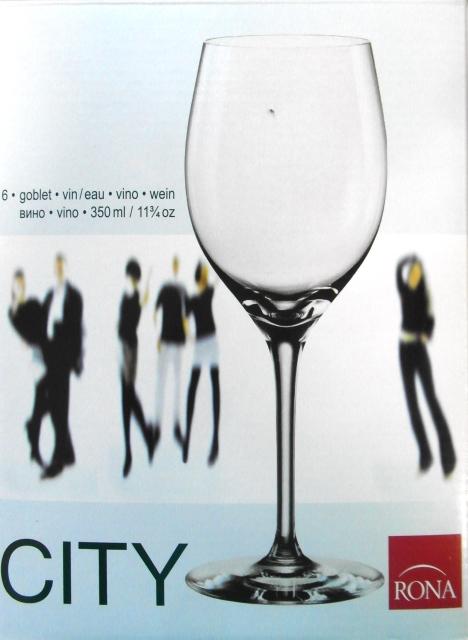 Kalich pohár čaša na víno nápoje CITY RONA 350 ml 6ks