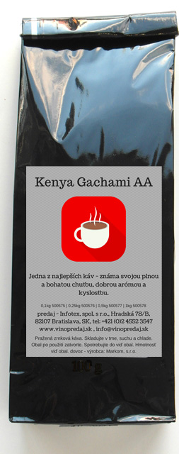 Kenya - Keňa pražená zrnková káva 100g