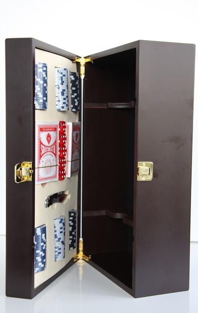 Krabica Obal Kazeta Box 2 fľaše drevená poker otvárač na víno