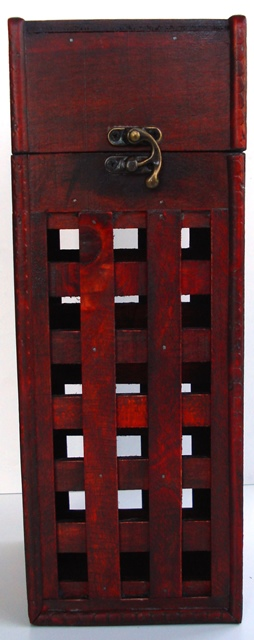 Krabica Obal Kazeta Box 1 fľaša drevená rustikálna
