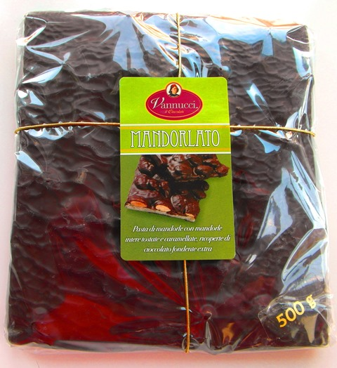MANDORLATO Čokoláda tmavá 58% kakao Vannucci Taliansko 500g.