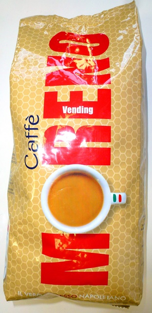 MORENO pražená káva zrnková - coffee - caffé espresso Napoletano