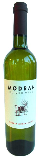 MUŠKÁT MORAVSKÝ 2016 MODRAN Klimko wine biele suché víno