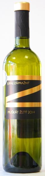 MUŠKÁT ŽLTÝ Zápražný 2014 CHOP polosuché víno