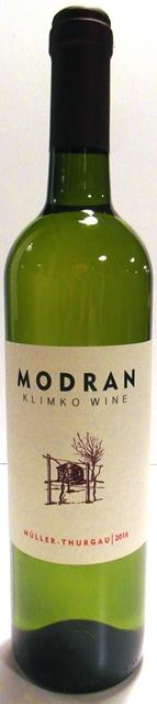 MÜLLER THURGAU 2016 MODRAN Klimko Wine