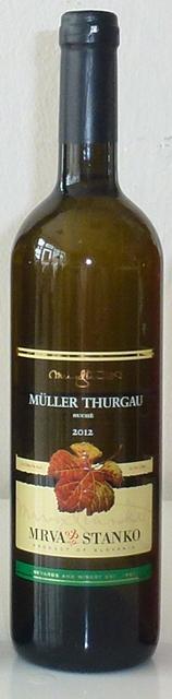 Müller Thurgau Mrva Stanko 2012 2011 AV