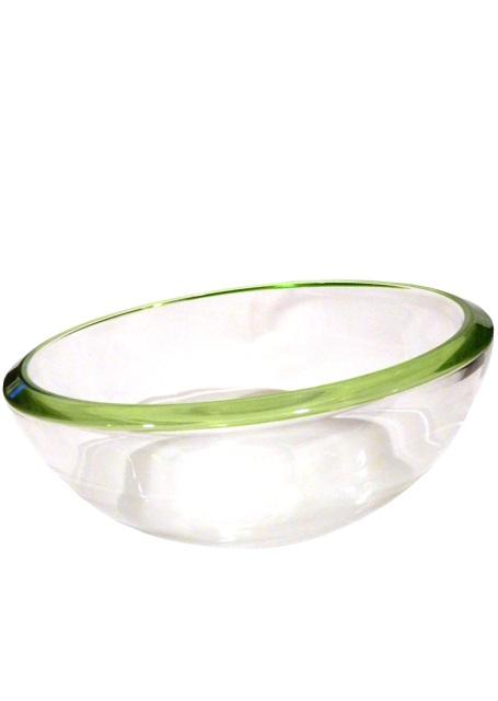 Misa Leonardo okrúhla sklenená číra s okrajom, priemer 20 cm