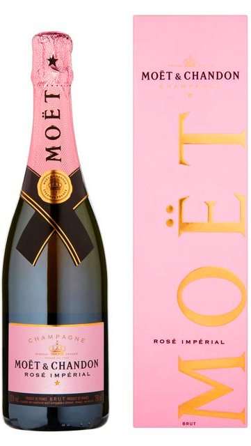 Moet & Chandon Champagne Impérial Rosé + krabica darček