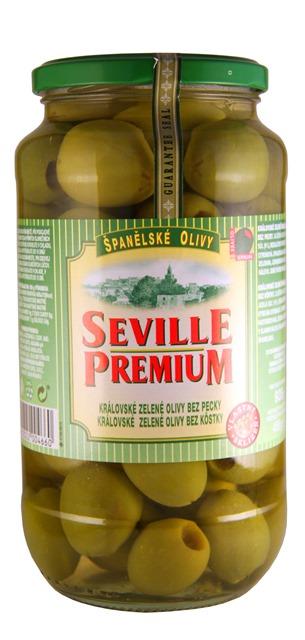 OLIVY kráľovské zelené bez kôstky SEVILLE PREMIUM Španielsko