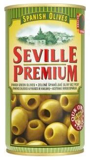 OLIVY zelené bez kôstky SEVILLE PREMIUM Španielsko 350g , 370 ml