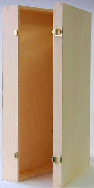 Obal - krabica - box - set - kazeta na víno 6 fliaš drevená