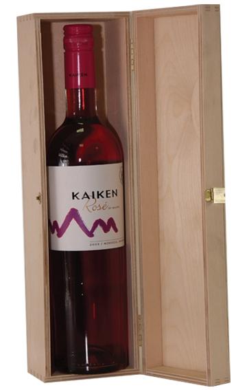 Krabica drevená - box - obal na 1 fľašu vína