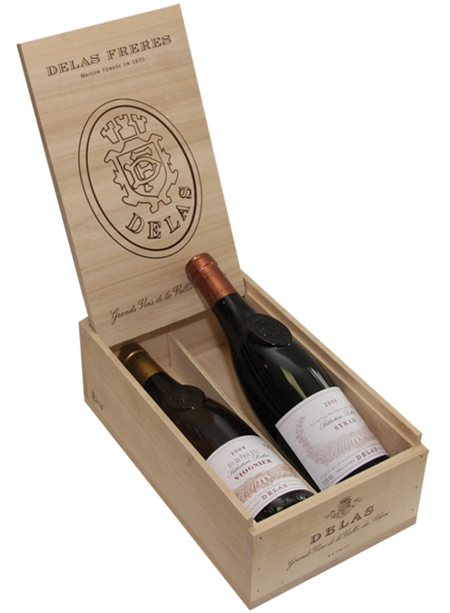 Drevený obal - krabica - box - set Delas na 2 ks fliaš