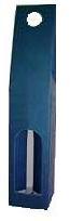 Obal - krabica na víno 1 fľaša modrý kartón 8563