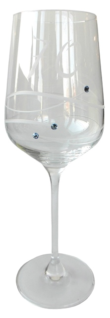 POHÁR JUBILEJNÝ Čaša s vekom 70, Swarovski elements Diamante výr