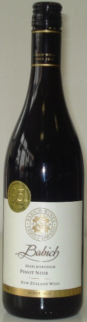 Pinot Noir 2009 Marlborough Babich New Zealand