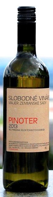 Pinoter Slobodné vinárstvo 2013 bez selektovaných kvasiniek