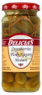 Plody KAPARY Caperberries Delicias Medium Španielsko 250g