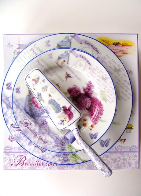 Porcelán dezertné taniere sada 8 ks dekoračný predmet