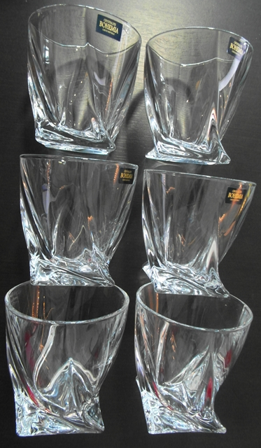 QUADRO Whiskey poháre 6 ks set Bohemia Crystalite