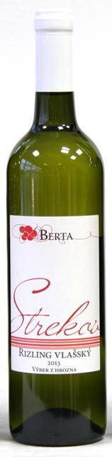 RIZLING VLAŠSKÝ 2013 Vinárstvo Berta Strekov Výber z Hrozna