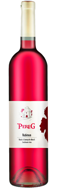 RUBINUS Pereg Rosé víno z čiernych ríbezlí