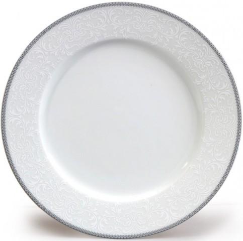 Súprava tanierov 18 dielna ČIPKA SIVÁ Thun Bohemia porcelán