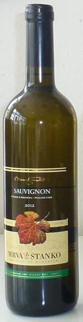 Sauvignon Mrva Stanko 2012 výber z hrozna polosuché
