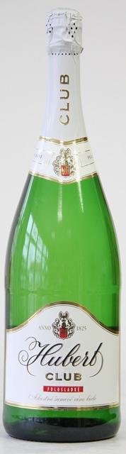 Sekt Hubert Club polosladké šumivé víno Magnum 1.5 l
