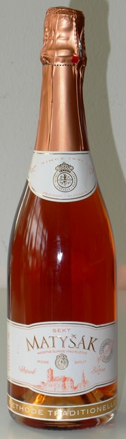 Sekt Matyšák Rosé Brut methode traditionelle